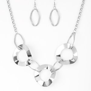 Modern Mechanics - Silver Necklace Set